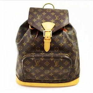 Auth LOUIS VUITTON Monogram Montsouris GM